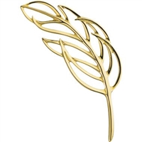 Spirit Feather Pin Silver/Gold by Grainger McKoy