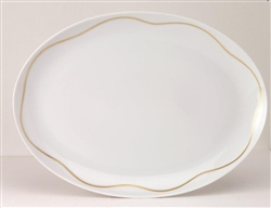 Etincelle Or Big Oval Dish by Medard de Noblat