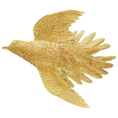 Dove Pin/Pendant Silver/Gold by Grainger McKoy