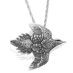 Dove Small Pendant Silver/Gold by Grainger McKoy