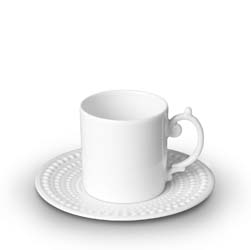 L'Objet Perlee Espresso Cup with Saucer