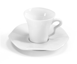 Gala Blanc Coffee Cup and Saucer by Medard de Noblat