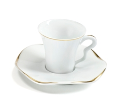 Etincelle Or Coffee Cup And Saucer by Medard de Noblat