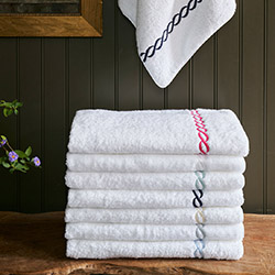 Classic Chain Bath Towel with Custom Monogram by Matouk