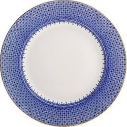 Blue Lace Dinner Plate by Mottahedeh