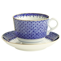Blue Lace Cup and Saucer by Mottahedeh