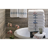 Gordian Knot Bath Towel with Custom Monogram by Matouk