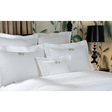 Scallop Luxury Bed Linens by Matouk