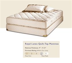 Royal Latex Quilt-Top Mattress by Royal Pedic