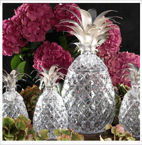 William Yeoward Crystal Isadora Pineapple Centerpiece