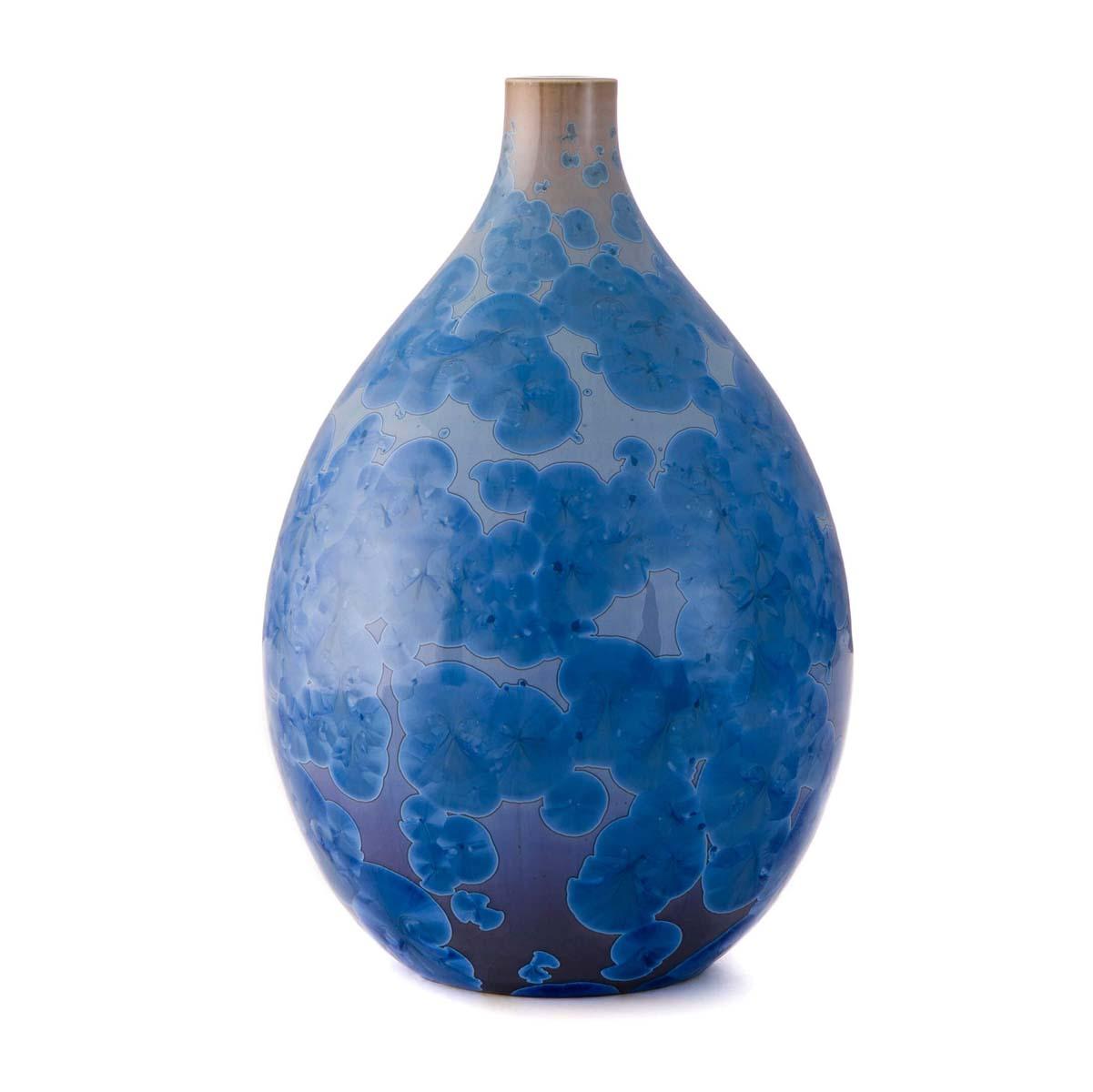 Simon Pearce Crystalline Teardrop Vase M