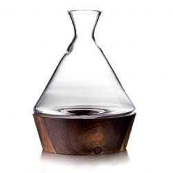 Ludlow Wine Decanter with Wood Base by Simon Pearce
