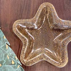 "Sparkle 11"" 24kt Gold Star by Annieglass"