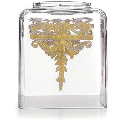 Baroque Gold Tissue Box Holder by Arte Italica