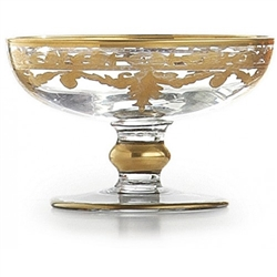 Baroque Gold Compote/Soap Dish by Arte Italica