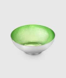 "Symphony Citrus Pearl Round Bowl 4.5"" by Mary Jurek Design"