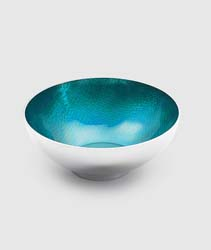 "Symphony Turquoise Round Bowl 4.5"" by Mary Jurek Design"