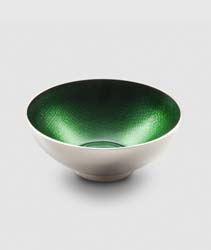 "Symphony Emerald Green Round Bowl 4.5"" by Mary Jurek Design"