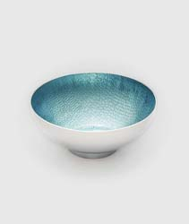 "Symphony Blue Pearl Round Bowl 4.5"" by Mary Jurek Design"