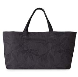 "Slow Life Carbon Shopper Bag 33"" x 14"" x 10"" by Le Jacquard Francais"