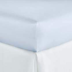 Soprano Sateen Barely Blue Fitted Sheet, Flat Sheet, Pillow Cases, Duvet Cover and Sham by Peacock Alley
