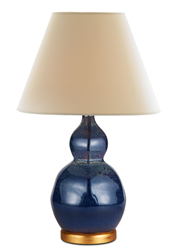 Small Speckled Indigo Lamp by Bunny Williams Home