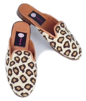 ByPaige - Leopard Needlepoint Mule