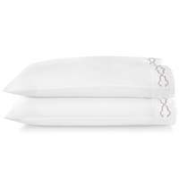 Tempo Embroidered Sateen King Pillow Cases by Peacock Alley