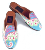ByPaige - Preppy Paisley Needlepoint Mule