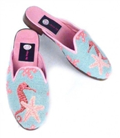 ByPaige - Seahorse Needlepoint Mule