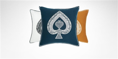 Yves Delorme - Iosis Tarot Pique Decorative Pillow