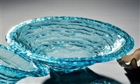 "Annieglass - Ultramarine 16 1/2"" Large Rimmed Serving Bowl"