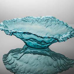 Ultramarine Water Sculpture Bowl Ltd Ed by Annieglass