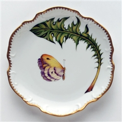 Green Leaf Butterfly Bread & Butter Plate by Anna Weatherley