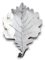 Pewter White Oak Leaf Plates  by Vagabond House