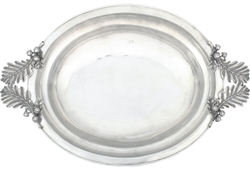 Acorn & Oak Leaf Pewter Serving Dish by Vagabond House