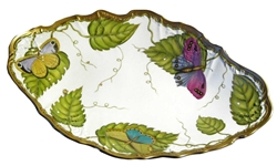 Exotic Butterflies Open Vegetable Serving Bowl by Anna Weatherley