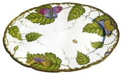 Exotic Butterflies Oval Platter by Anna Weatherley