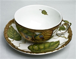Exotic Butterflies Tea Cup & Saucer by Anna Weatherley
