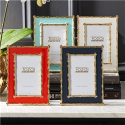 "Bamboo Border 4"" x 6"" Frame by Two's Company"
