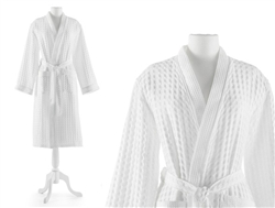 Waffle Luxury Robe by Peacock Alley