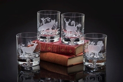 American Wildlife Old Fashion Glasses by Julie Wear