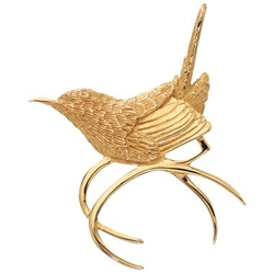 Carolina Wren Pin in 14K and 18K Gold - Grainger McKoy