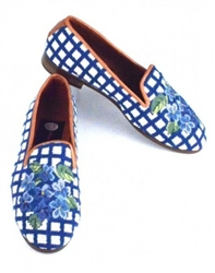 ByPaige - Hydrangea Needlepoint Women's Loafer