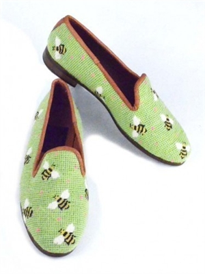 ByPaige - Bees on Lime Needlepoint Women's Loafer