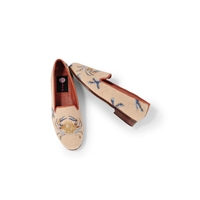 ByPaige - Crab on Tan Needlepoint Women's Loafer