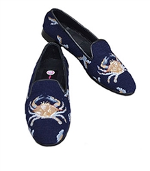 ByPaige - Crab on Navy Needlepoint Women's Loafer