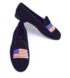 ByPaige - American Flag Needlepoint Women's Loafer