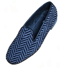 ByPaige -Herringbone Gray and Black Women's Needlepoint Loafer