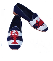 ByPaige -Lobster and Crab Women's Needlepoint Loafer